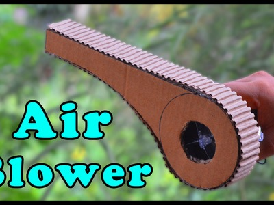 How to Make a Powerful Air Blower at home - EASY to make and Portable