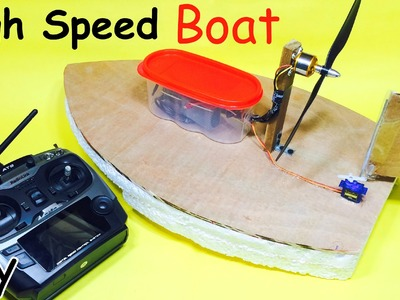How to Make a RC Electric Boat | Homemade Hovercraft