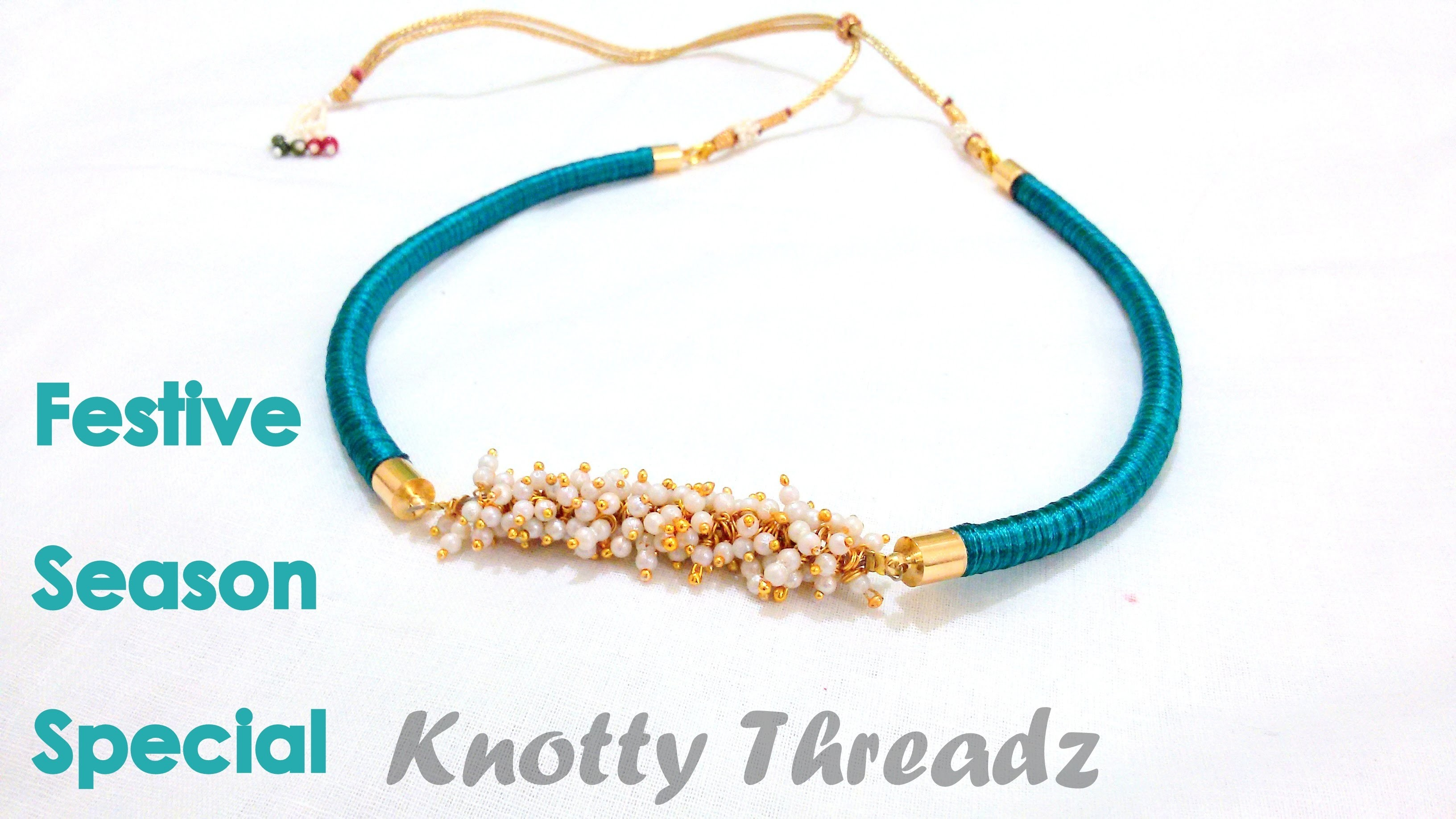 How to make a Silk Thread Necklace - Piped !!