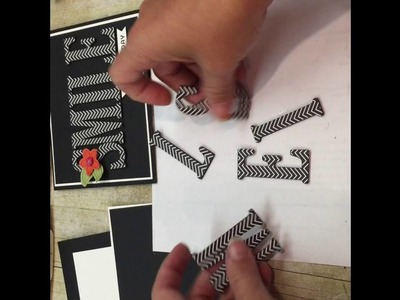 How to make a SMILE card with Stampin Up's BIg Letters Framelits