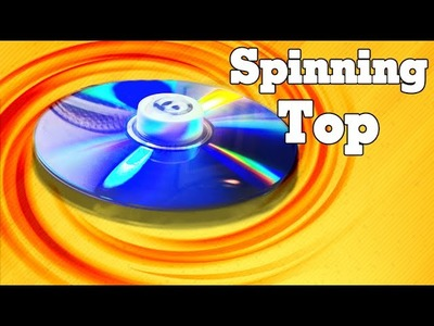 How to make a Spinning Tops over 01 minute by old CD - Simple and Easy