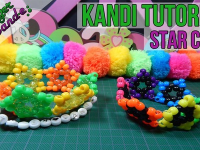 How to Make a Star Cuff - [Kandi Tutorial] | @GingerCandE