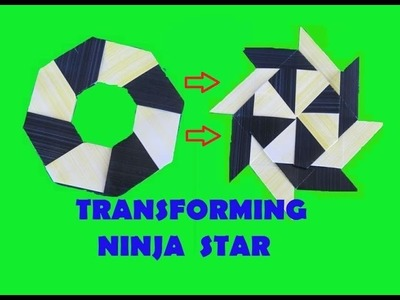 HOW TO make a Transforming Ninja Star - Origami