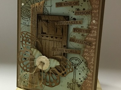 How to make a vintage card using the NEW 'In This World' Stamp Set