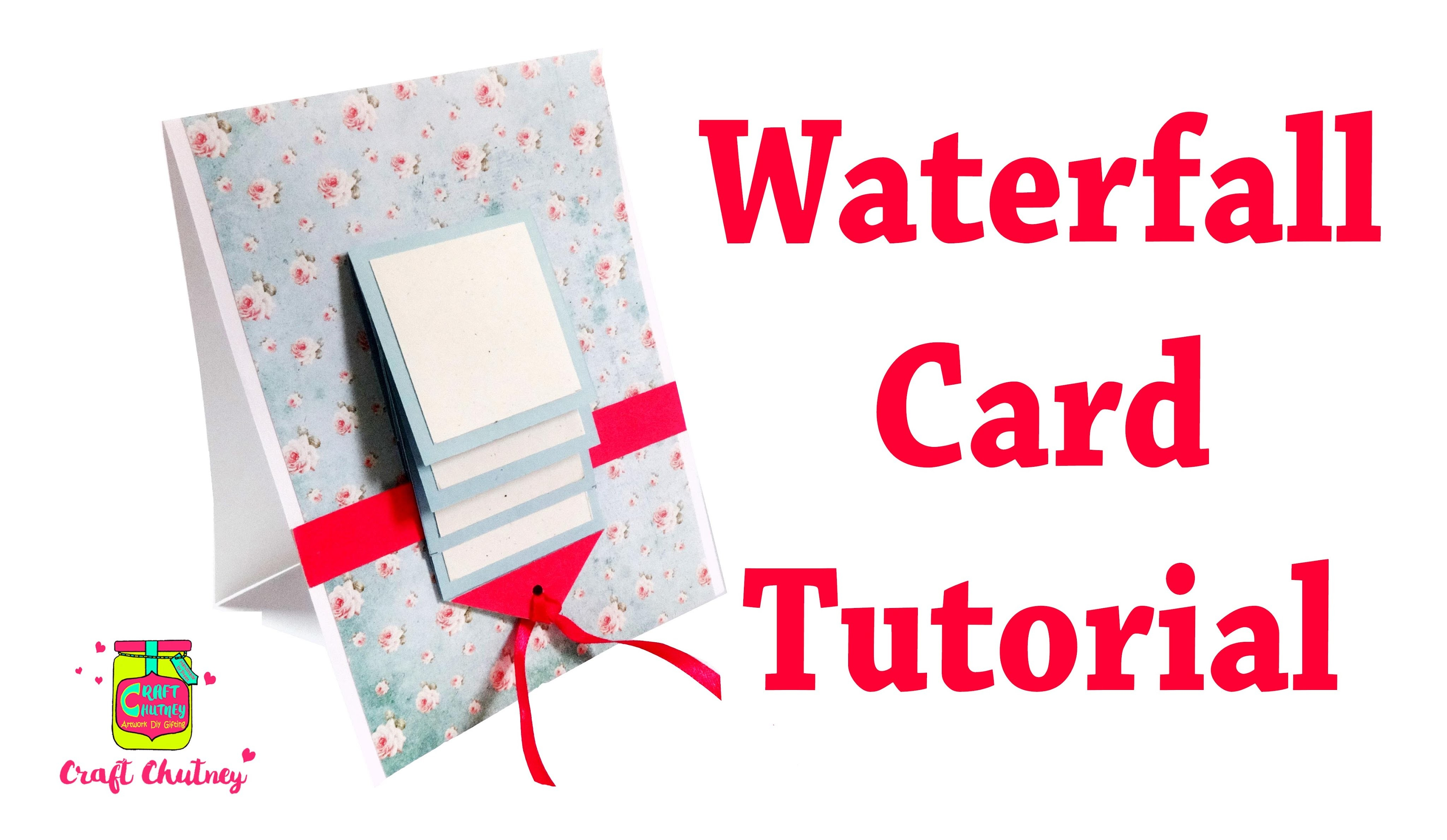 How to make a Waterfall card tutorial