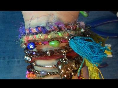 How to make and alter a bracelet boho style