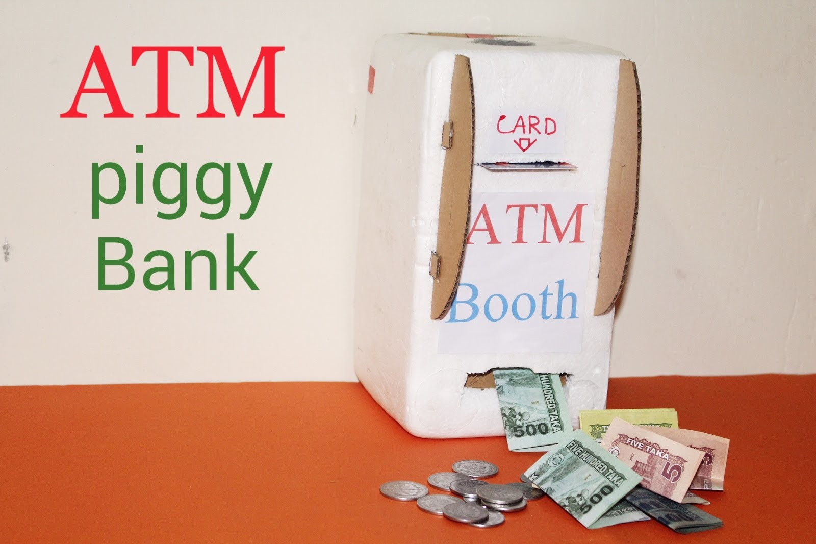 How to make ATM Piggy Bank at home
