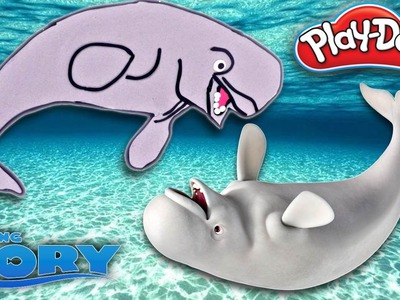 How To Make Bailey the Beluga Whale from Disney Finding Dory w. Play Doh | Play-Doh Videos on DCTC