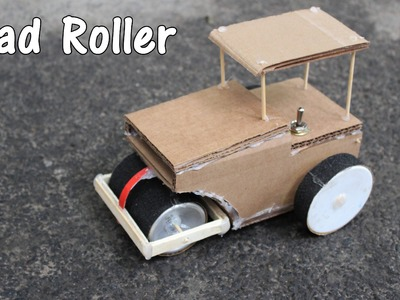 How to make battery operated Road Roller - Its fun DIY