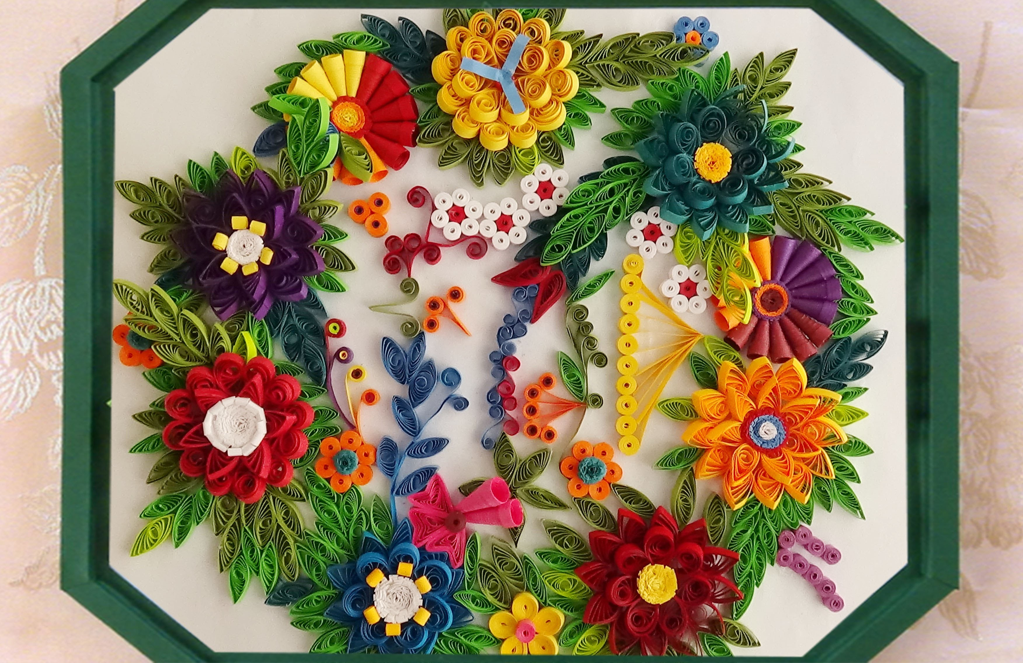How To Make Beautiful Quilling Flower Designs Wall
