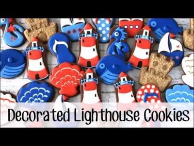 How to Make Decorated Lighthouse Cookies