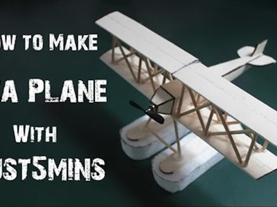 How to make Floating AIRCRAFT at home - Easy-to-Make - Just5mins