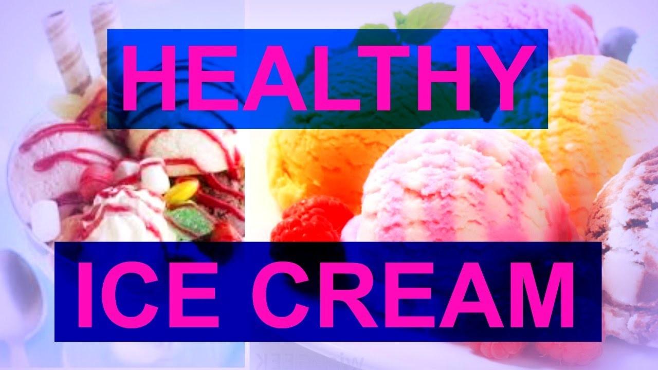 How to make HEALTHY ICE CREAM?! NO BANANA, EASY