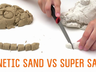 How to make Kinetic Sand | Super Sand vs Homemade Kinetic Sand DIY
