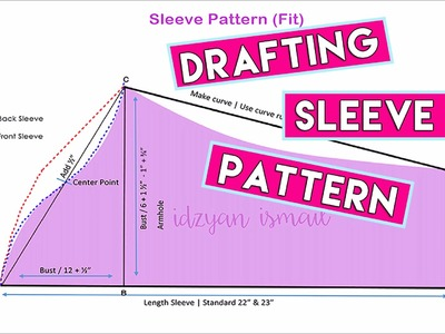 How to make kurung modern - drafting sleeve pattern