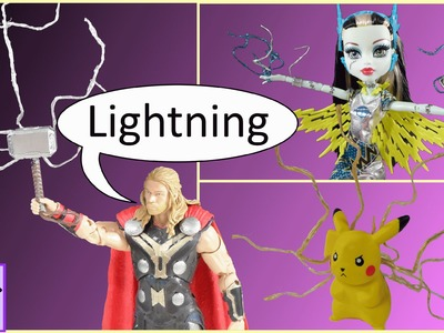 How to Make Lightning Electricity Effect for Action Figures & Toys