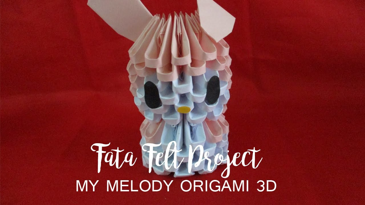 How to Make My Melody Origami 3D -fatafeltproject