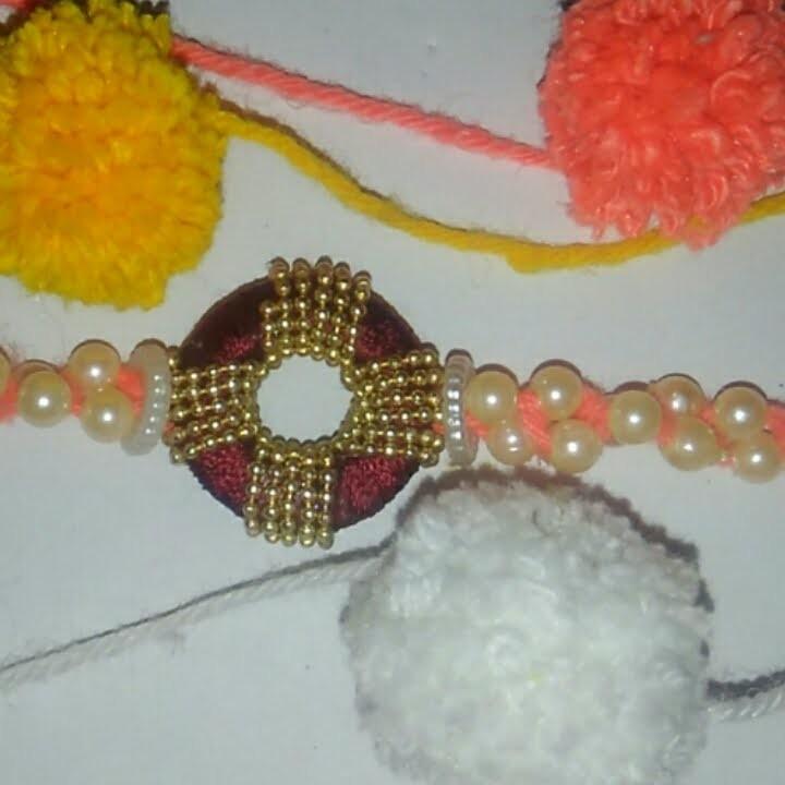 How to make RAKHI (silk thread.woolen) at home