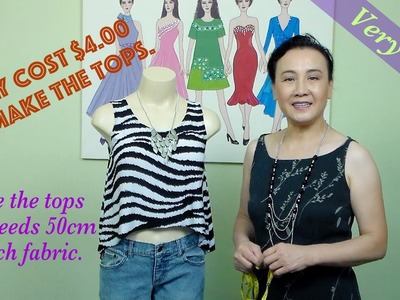 How to make short tops.  video #27