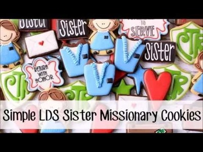 How to Make Simple Decorated LDS Sister Missionary Cookies