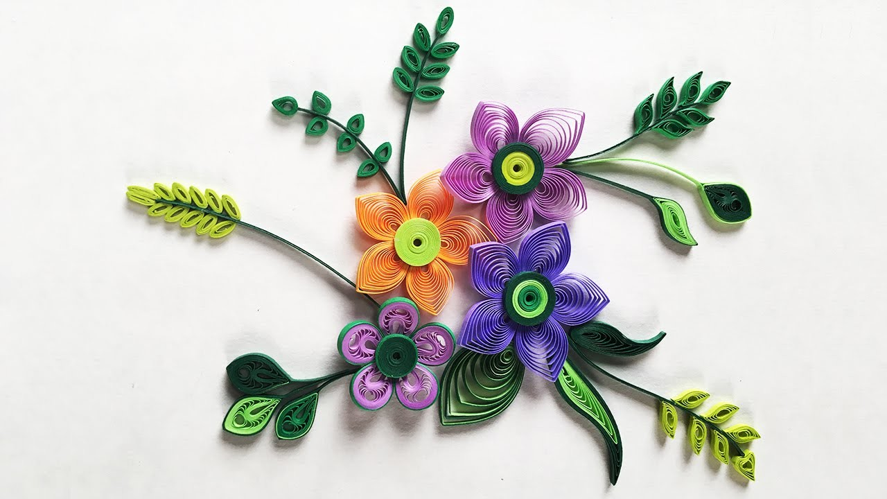 How to make small paper flower with paper strips quilling made easy how to make small paper flower with paper strips quilling made easy mightylinksfo