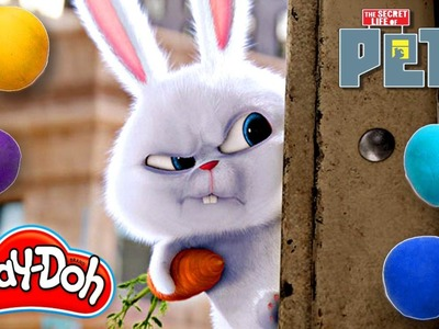 How To Make Snowball from Secret Life of Pets Movie out of Play Doh | DCTC Play Doh Videos