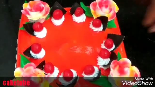How to make square cake | simple frosting recipe | colourful cakes | design a cake