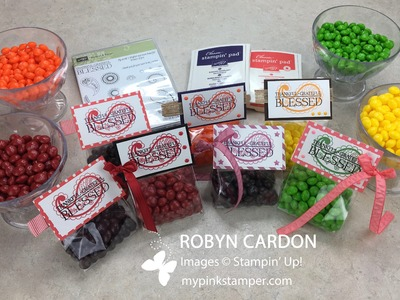 How to make Stampin' Up!'s Paisleys & Posies Gusseted Treat Bags - Episode 506