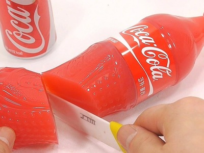 How To Make Strawberry Milk Coca Cola Pudding Jelly Surprise Toys DIY | The Finger Family ABC Song