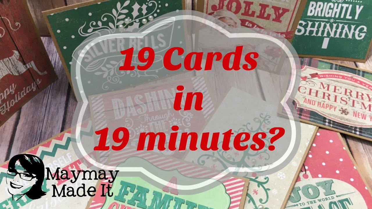 How to Make Super Fast Christmas Cards