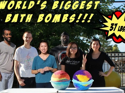 How to Make the World's Biggest Bath Bombs (for charity)! 37lbs Each - DIY