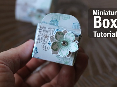 How to make this miniature box with Petit Petals by Stampin Up
