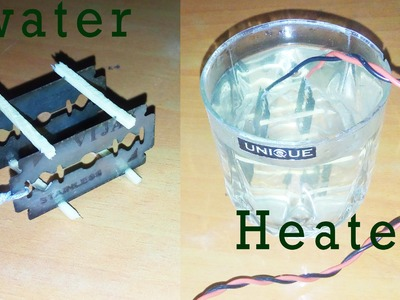 How to make water heater with blades at home - esay way