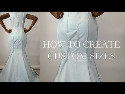 How To Make Your Drape Pattern Fit Your Size.Custom Sizes