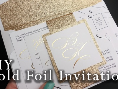 How to make your own gold foil belly band wedding invitation | DIY invitations