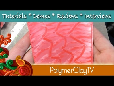 How to mica shift polymer clay and create a patterned sheet- the easy way