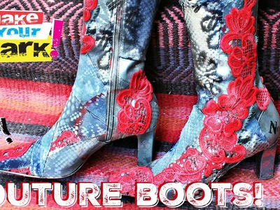 How to: Mixed Media Couture Boot Makeover