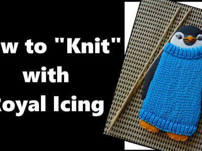How to pipe the basic knit stitch with royal icing .