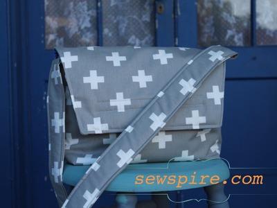 How to sew a Crossbody Messenger Tote Bag
