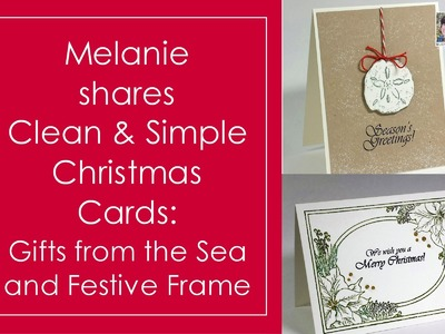 How to Stamp Clean and Simple Christmas Cards
