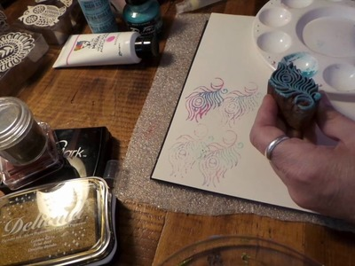 How To Stamp With Recollections Boho Indian Wood Stamps