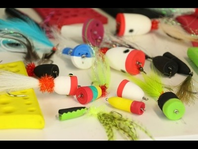 How to tie a foam head popper fly shank pesca mosca luccio Flyfishing come costruire Top water