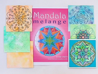 LIVE! How to Create Mandalas for Cards Part1 with Barb Owen - HowToGetCreative.com