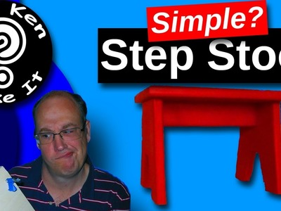 Make a Simple Step Stool with Dowel Joinery - I Show You How to Make It Not Easy
