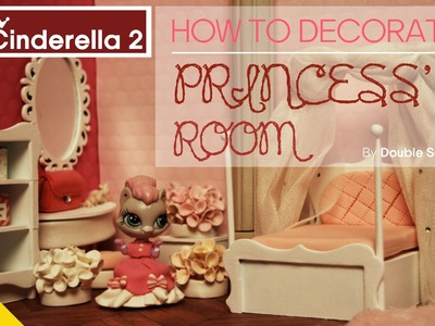 * Miniature TV * LPS Videos :New cinderella 2. How to decorate Princess' room