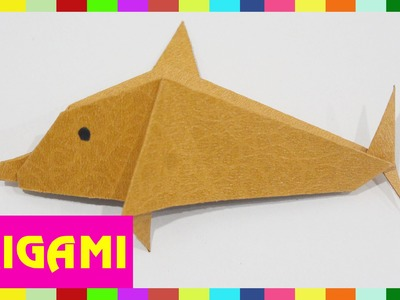 Origami Dolphin - How To Fold Dolphin  (Kasumi Paper)