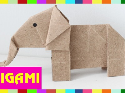Origami Elephant - How To Fold  Elephant ( Kasumi Paper )