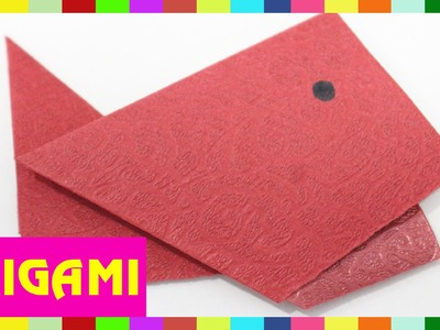 Origami Fish - How To Fold Fish (Kasumi Paper)
