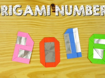 Origami - How to fold numbers from 0 to 9