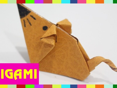 Origami Mouse - How To Fold Mouse  (Kasumi Paper)